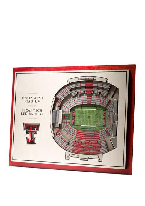 NCAA Texas Tech Red Raiders 5 Layer StadiumViews 3D Jones AT&T Stadium Wall Art