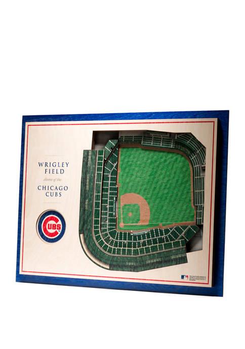 StadiumViews MLB Chicago Cubs 5 Layer 3D Wall