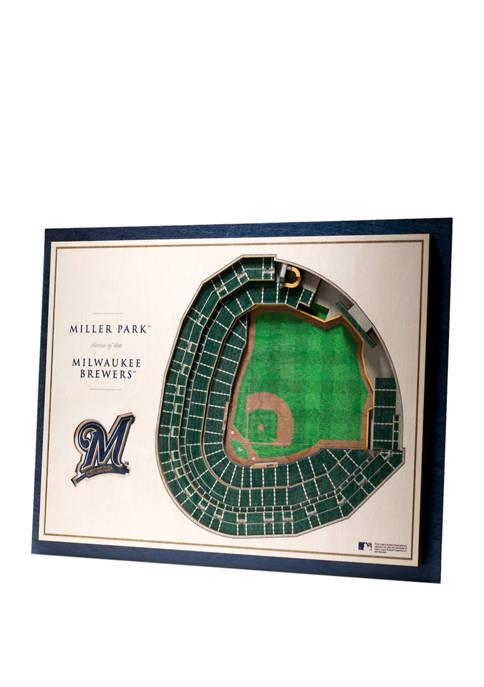 StadiumViews MLB Milwaukee Brewers 5 Layer 3D Wall