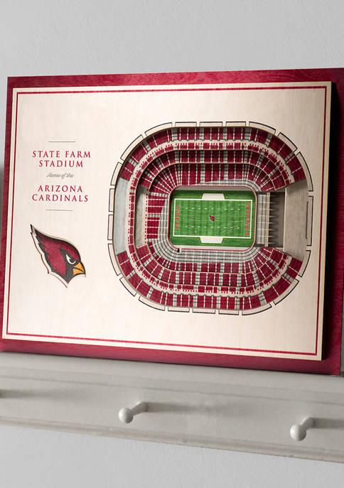 You The Fan NFL Arizona Cardinals 5-Layer StadiumViews