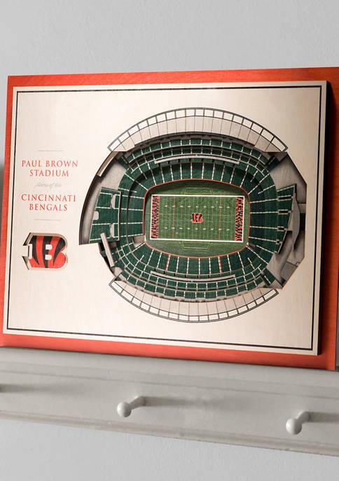 NFL Cincinnati Bengals 5-Layer StadiumViews 3D Wall Art - Paul Brown Stadium