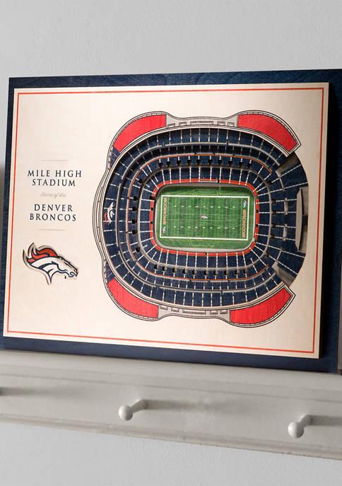NFL Denver Broncos 5-Layer StadiumViews 3D Wall Art - Mile High Stadium