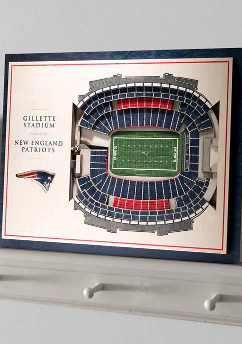 NFL New England Patriots 5-Layer StadiumViews 3D Wall Art - Gillette Stadium