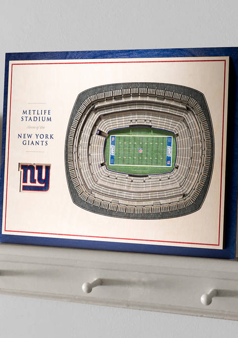 NFL New York Giants 5-Layer StadiumViews 3D Wall Art - MetLife Stadium