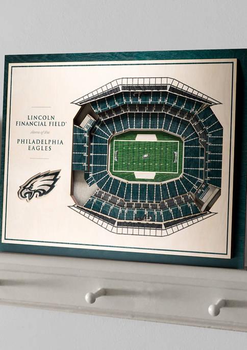 NFL Philadelphia Eagles 5-Layer StadiumViews 3D Wall Art - Lincoln Financial Field