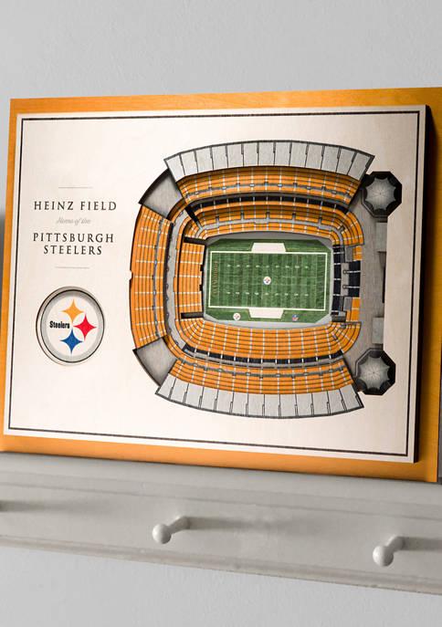 NFL Pittsburgh Steelers 5-Layer StadiumViews 3D Wall Art - Heinz Field