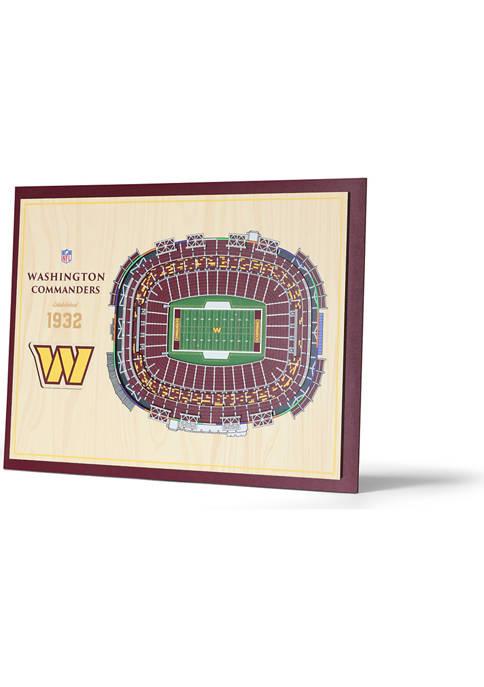 NFL Washington Redskins 5-Layer StadiumViews 3D Wall Art - FedExField
