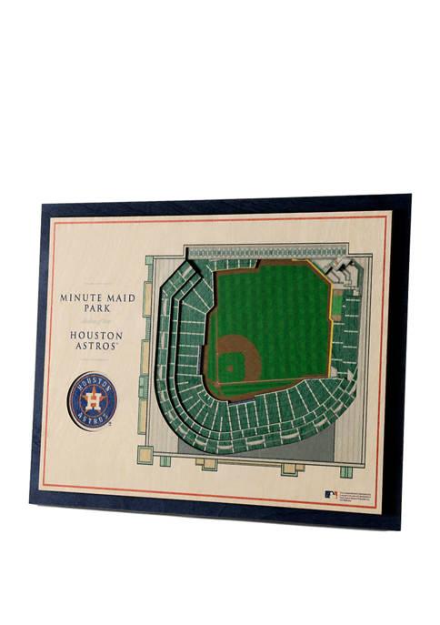 StadiumViews MLB Houston Astros 5 Layer 3D Wall