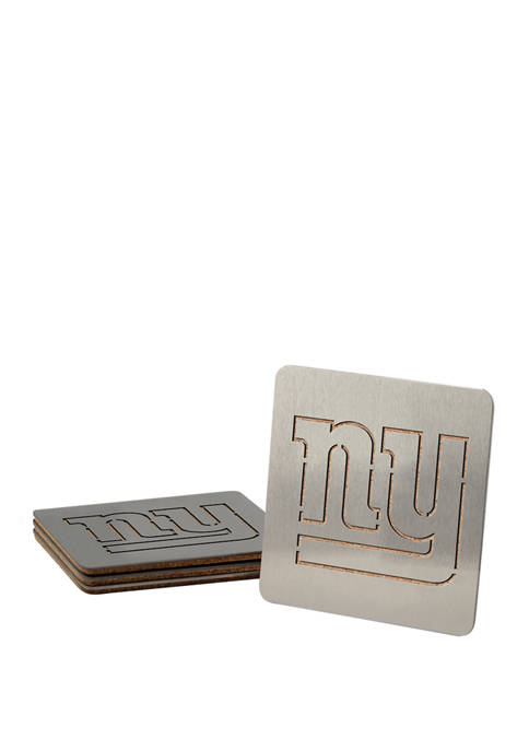 NFL New York Giants Boasters 4 Piece Coaster Set