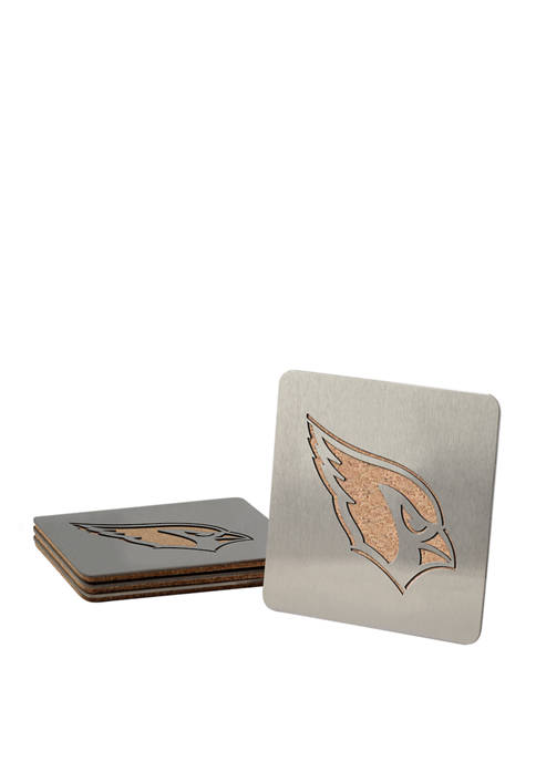 NFL Arizona Cardinals Boasters 4 Piece Coaster Set