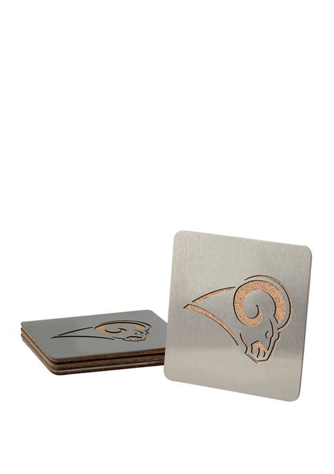 NFL Los Angeles Rams Boasters 4 Piece Coaster Set