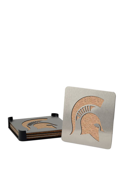 NCAA Michigan State Spartans Set of 4 Coasters