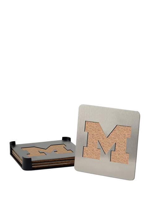 NCAA Michigan Wolverines Set of 4 Coasters