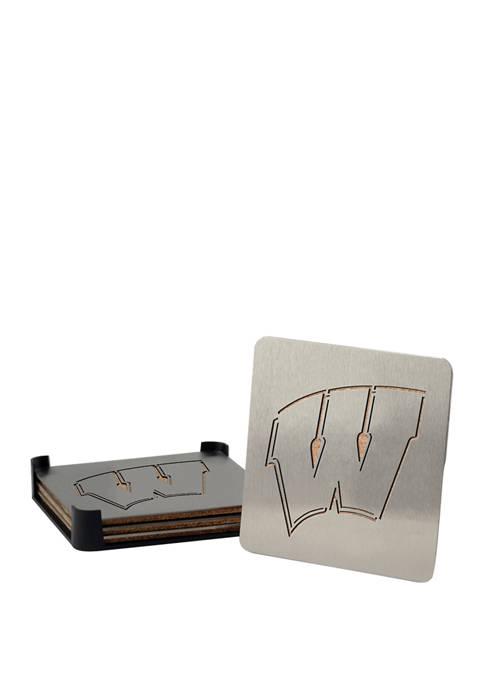 NCAA Wisconsin Badgers Set of 4 Coasters