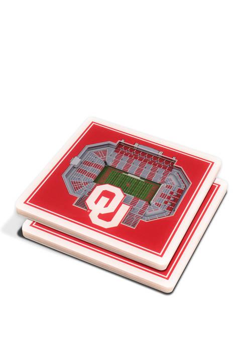 NCAA Oklahoma Sooners 3D StadiumViews 2 Pack Coaster Set - Gaylord Family Oklahoma Memorial Stadium