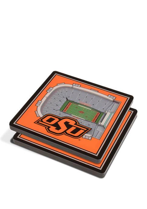 NCAA Oklahoma State Cowboys 3D Stadium Views Coaster Set - Boone Pickens Stadium