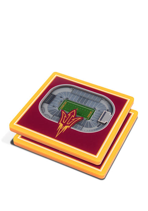 NCAA Arizona State Sun Devils 3D StadiumViews 2 Pack Coaster Set - Sun Devil Stadium