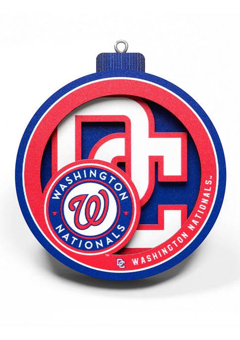 You The Fan MLB Washington Nationals 3D Logo