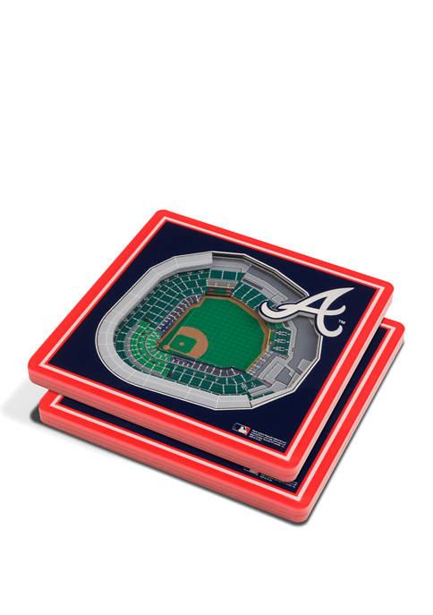 MLB Atlanta Braves 3D StadiumViews 2-Pack Coaster Set