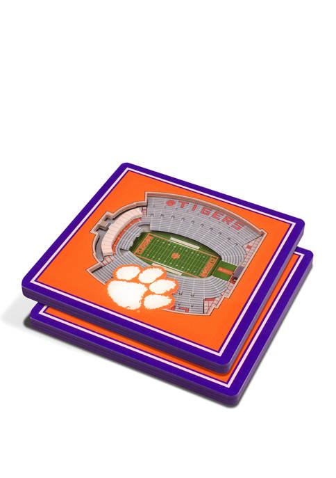 NCAA Clemson Tigers 3D Stadium Views Coaster Set - Memorial Stadium