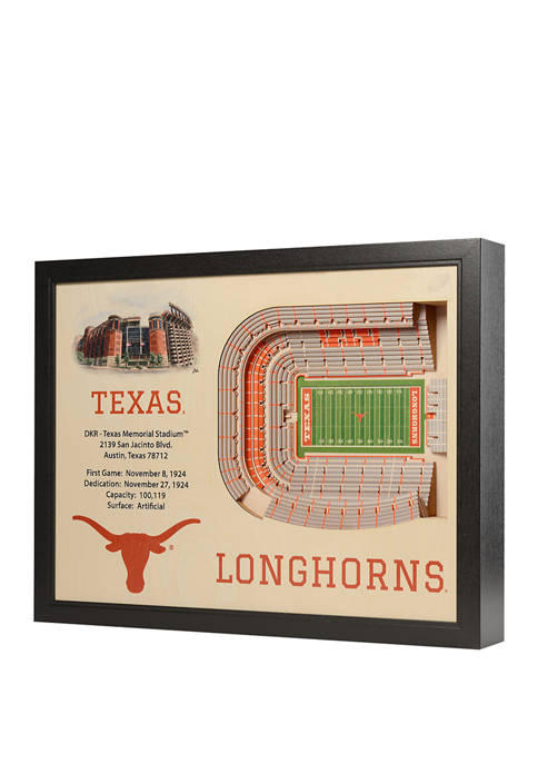 You The Fan NCAA Texas Longhorns 25-Layer StadiumViews
