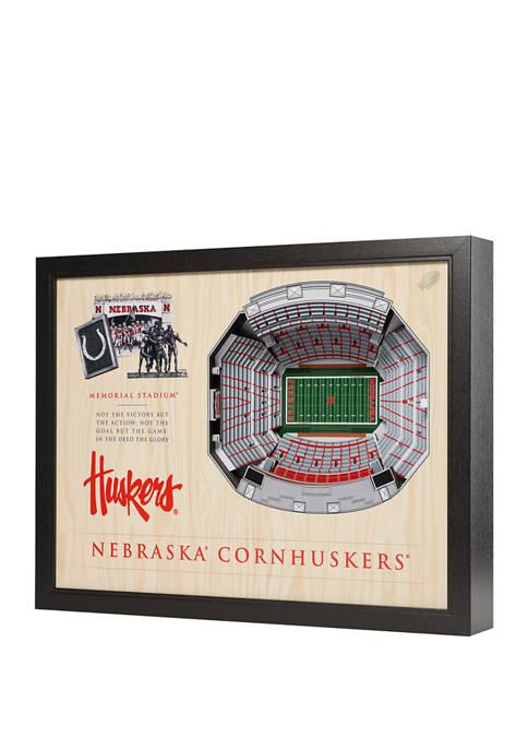 You The Fan NCAA Nebraska Cornhuskers 25-Layer StadiumViews