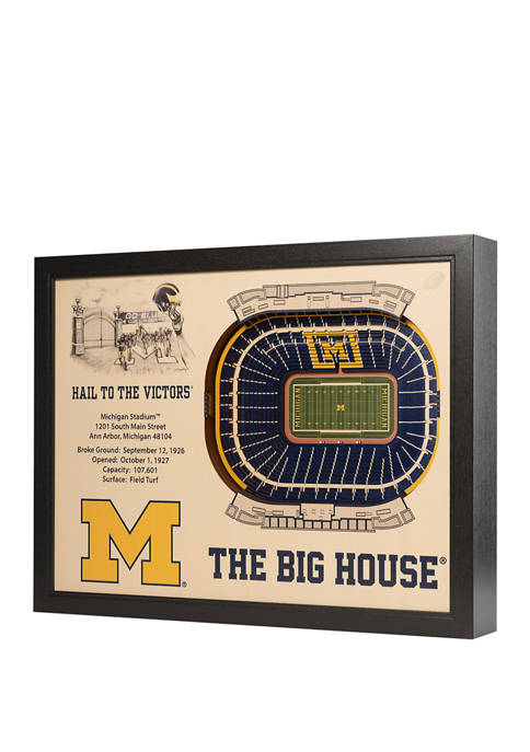 You The Fan NCAA Michigan Wolverines 25-Layer StadiumViews