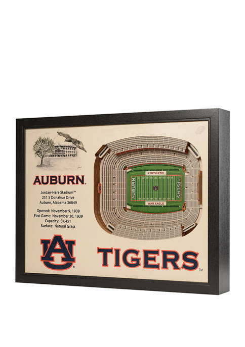 NCAA Auburn Tigers 25-Layer StadiumViews 3D Wall Art - Jordan-Hare Stadium