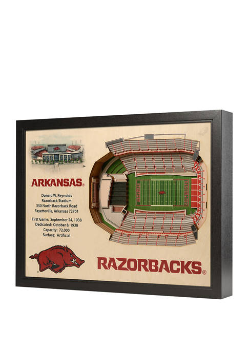 You The Fan NCAA Arkansas Razorbacks 25-Layer StadiumViews