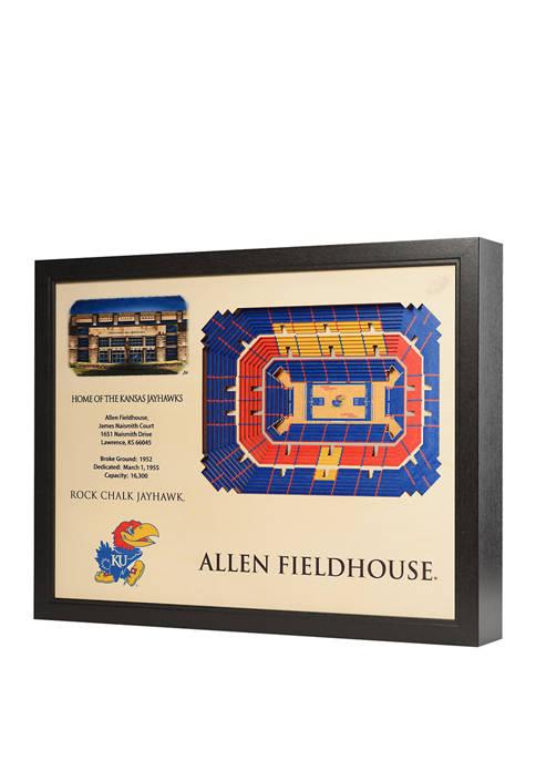 NCAA Kansas Jayhawks 25-Layer StadiumViews 3D Wall Art - Allen Fieldhouse