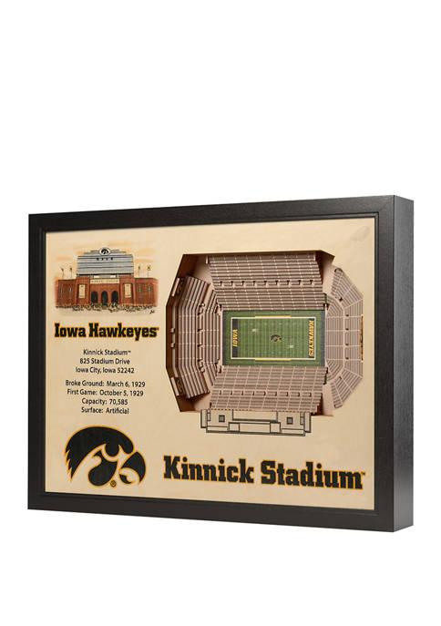 NCAA Iowa Hawkeyes 25-Layer StadiumViews 3D Wall Art - Kinnick Stadium