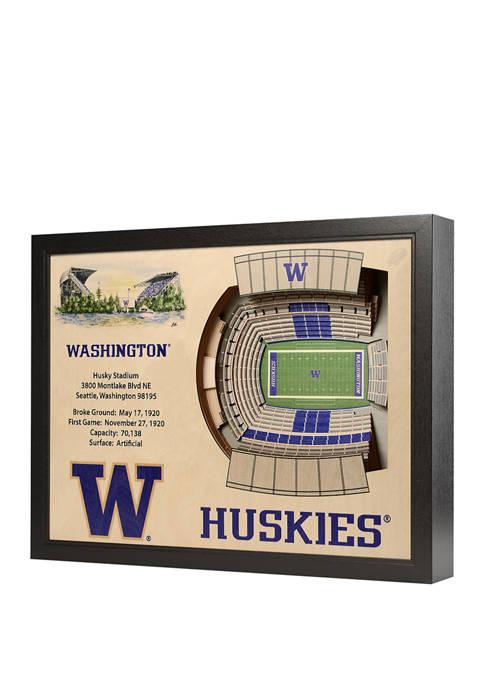 NCAA Washington Huskies 25-Layer StadiumViews 3D Wall Art - Husky Stadium