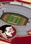 NCAA Florida State Seminoles 3D StadiumViews 2 Pack Coaster Set - Doak Campbell Stadium