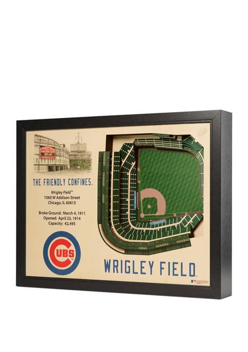 MLB Chicago Cubs 25-Layer StadiumViews 3D Wall Art - Wrigley Field