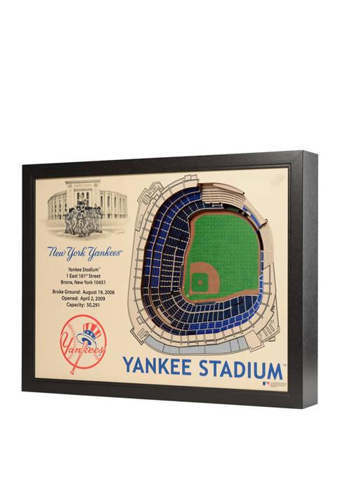 MLB New York Yankees 25-Layer StadiumViews 3D Wall