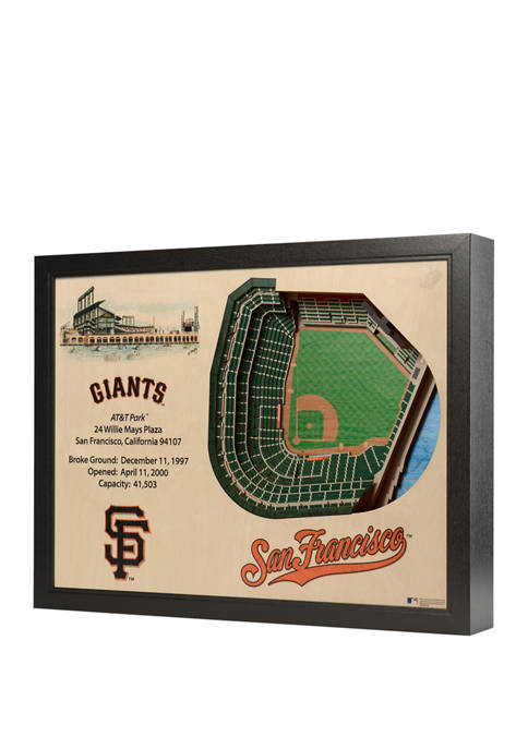 MLB San Francisco Giants 25-Layer StadiumViews 3D Wall