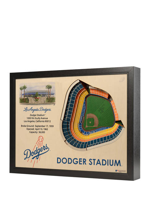 MLB Los Angeles Dodgers 25-Layer StadiumViews 3D Wall Art - Dodger Stadium