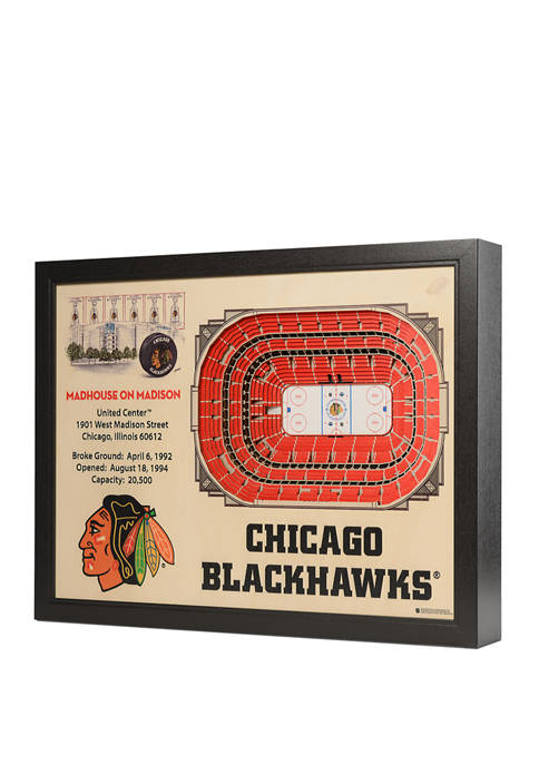 NHL Chicago Blackhawks 25 Layer StadiumViews 3D Wall Art - United Center