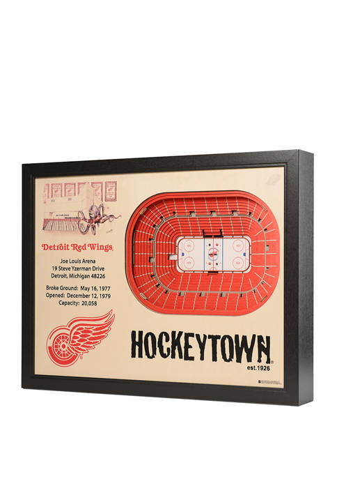 NHL Detroit Red Wings 25 Layer StadiumViews 3D