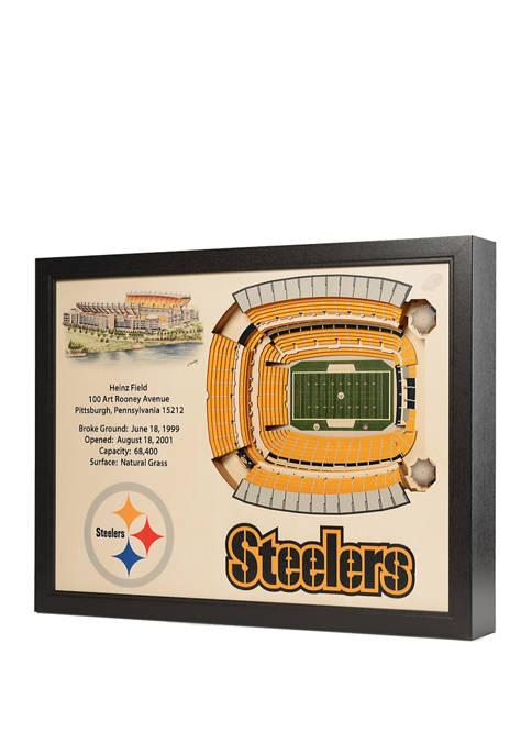 NFL Pittsburgh Steelers 25 Layer StadiumViews 3D Wall Art - Heinz Field