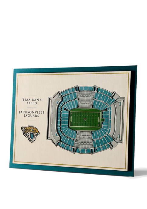 NFL Jacksonville Jaguars 5 Layer StadiumViews 3D Wall Art-TIAA Bank Field