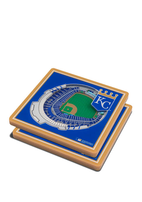MLB Kansas City Royals 3D StadiumViews 2-Pack Coaster Set - Kauffman Stadium