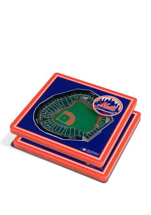 MLB New York Mets 3D StadiumViews 2-Pack Coaster