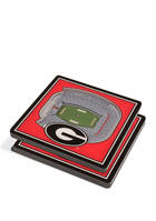 NCAA Georgia Bulldogs 3D Stadium Views Coaster Set - Sanford Stadium