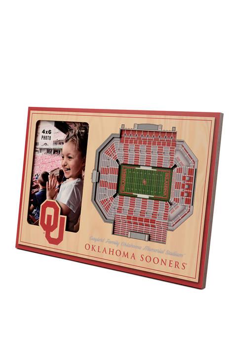 NCAA Oklahoma Sooners 3D StadiumViews Picture Frame - Gaylord Family Oklahoma Memorial Stadium