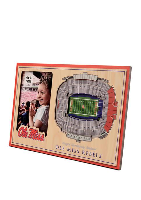 Ole Miss Rebels NCAA Mississippi Rebels 3D StadiumViews Picture Frame - Vaught Hemingway Stadium