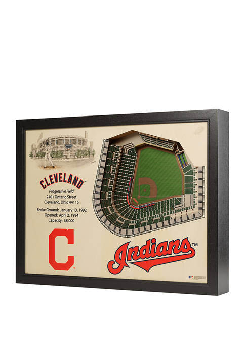 You The Fan MLB Cleveland Indians 25-Layer StadiumViews