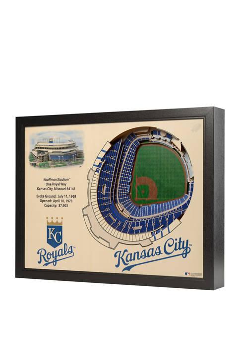 MLB Kansas City Royals 25-Layer StadiumViews 3D Wall