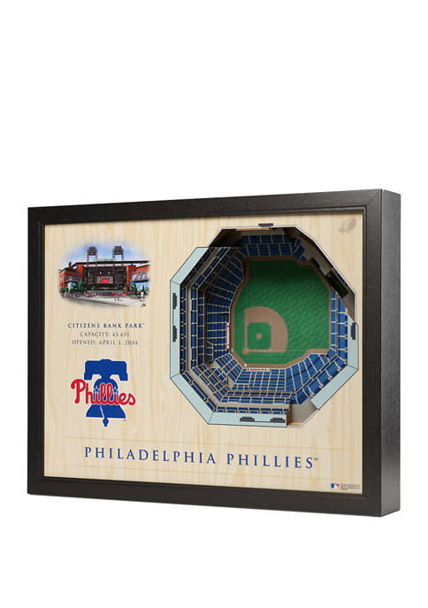 MLB Philadelphia Phillies 25 Layer 3D Wall Art, Citizens Bank Park