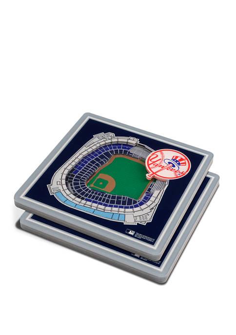 MLB New York Yankees 3D StadiumViews 2-Pack Coaster